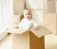 small, medium, large and extra large and specialty boxes, such as dish, lamp and full sized wardrobe boxes.